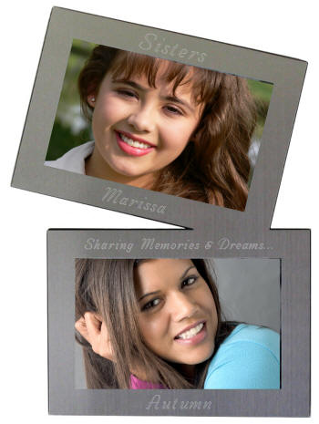Personalized Twin Metal Photo Frame