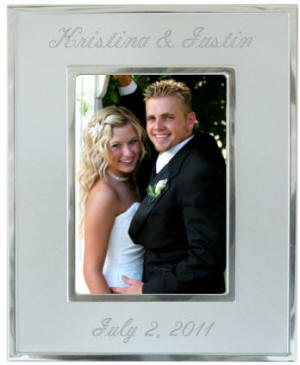 4x6 Brush/Chrome Finish Frame