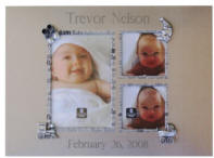 Engraved Baby Photo Gallery Frame