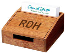 Bamboo Business Card Box