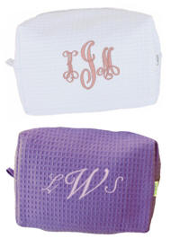 Personalized Waffle Weave Spa Bag