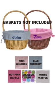 Personalized Easter Basket Liners