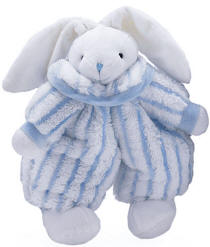 Small Floppy Rabbit with Blue/White Outfit
