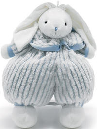 Floppy Rabbit with Blue/White Outfit