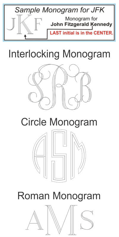 Engraving Monogram Selection
