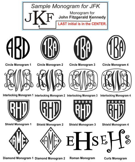 Monogram Selection