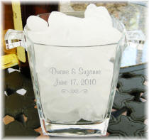 Personalized Etched Ice Bucket