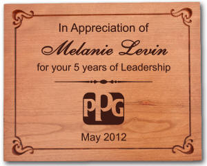 Large Personalized Hardwood Plaque