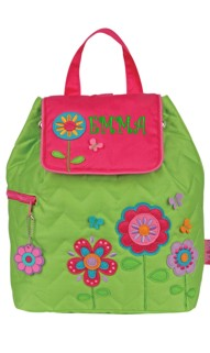 Flower Quilted Backpack