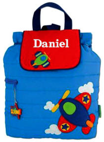 Airplane Quilted Kids Backpack
