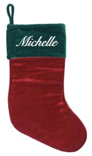 Maroon and Green Stocking