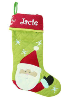 Christmas Stocking Santa SJ