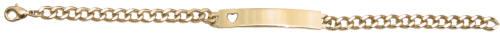Ladies Yellow Open Heart ID Bracelet
