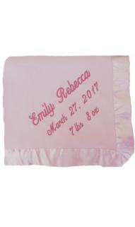 Pink Microfiber Baby Blanket