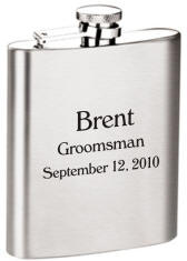 Personalized Flasks | 8oz Stainless Steel Flask | Engraved Hip Flasks