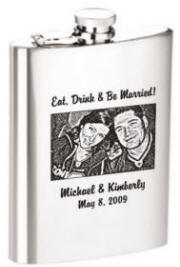 8 oz Photo or Logo Flask