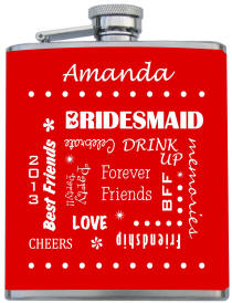 Custom Printed Bridesmaid Flask