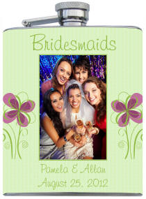 Custom Printed Bridesmaid Photo Flask