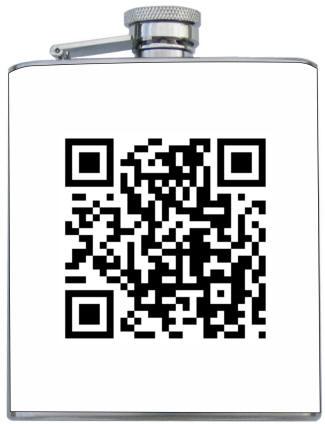 custom printed qr code flask