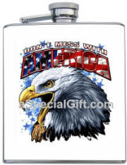 Don't Mess with America Printed Flask
