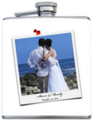 Custom Printed Wedding Photo Flask