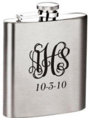 Laser Engraved Satin Finish 8 oz. Stainless Steel Flask
