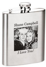 8 oz Satin Finish Photo or Logo Flask