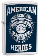 American Hero Police Personalized Zippo