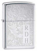 Venetian High Polished Chrome Zippo Lighter