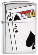 Black Jack High Polish Zippo Lighter
