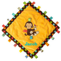 TAGGIES Dazzled Spots Monkey Cozy Blanket