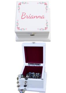 Blanca Small Personalized Wood Keepsake Box