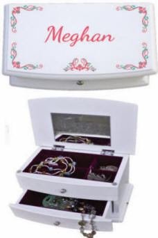 Personalized Blanca Wooden Jewelry Box