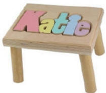 Personalized Short Name Stool