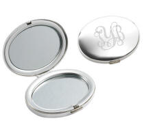 Polished Oval Mirror Compact