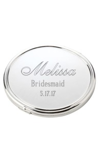 Polished Rounded Mirror Compact