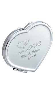 Mirror Finish Heart Shaped Mirror Compact